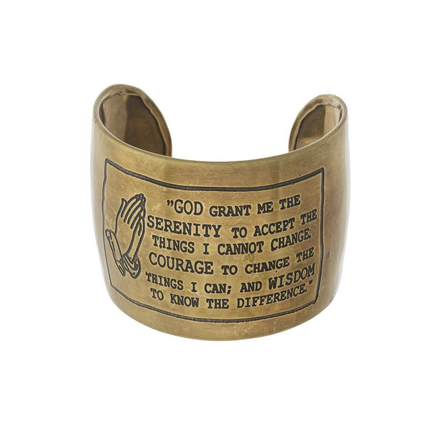 Serenity Prayer Cuff Bracelet - Fruit of the Vine