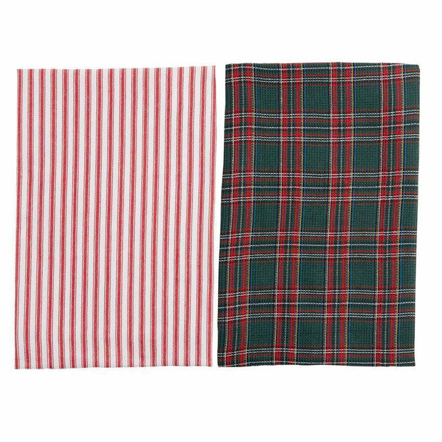 Christmas Plaid Waffle Towel Gift Sets | Fruit of the Vine Boutique