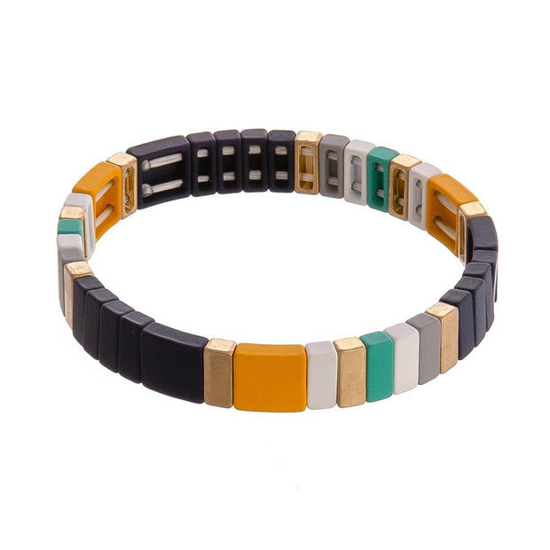 Navy Color Block Bracelet - Fruit of the Vine