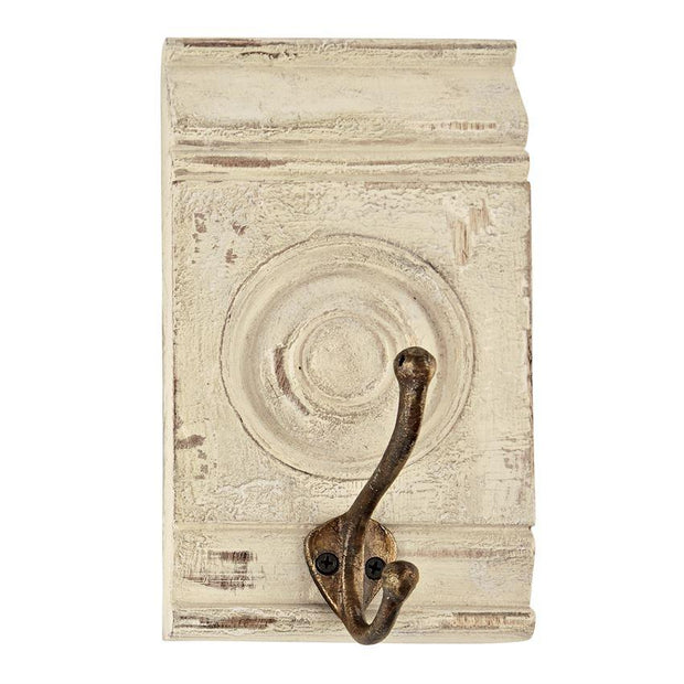 White Distressed Molding Hook - Fruit of the Vine