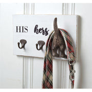 His, Hers & Pup Wall Plaque