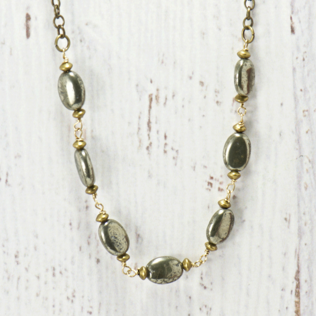 Gypsy Pyrite Necklace