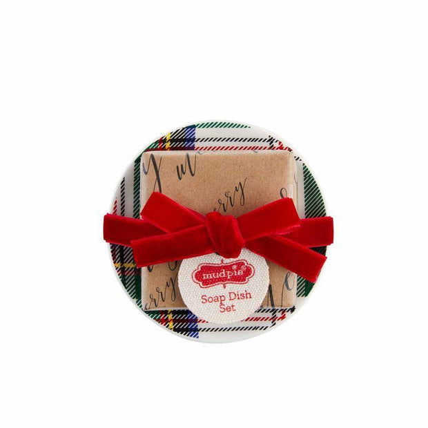 Holiday Soap and Dish Set | Mud Pie | Fruit of the Vine Boutique
