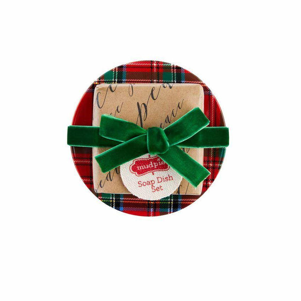 Holiday Soap and Dish Set | Mud Pie