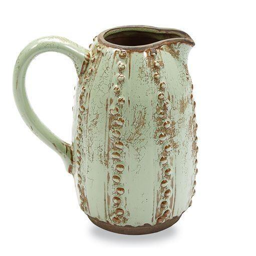 Green Decorative Cactus Pitcher Vase