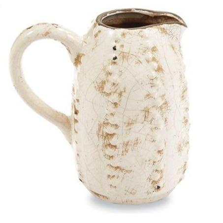 White Decorative Cactus Pitcher Vase - Fruit of the Vine