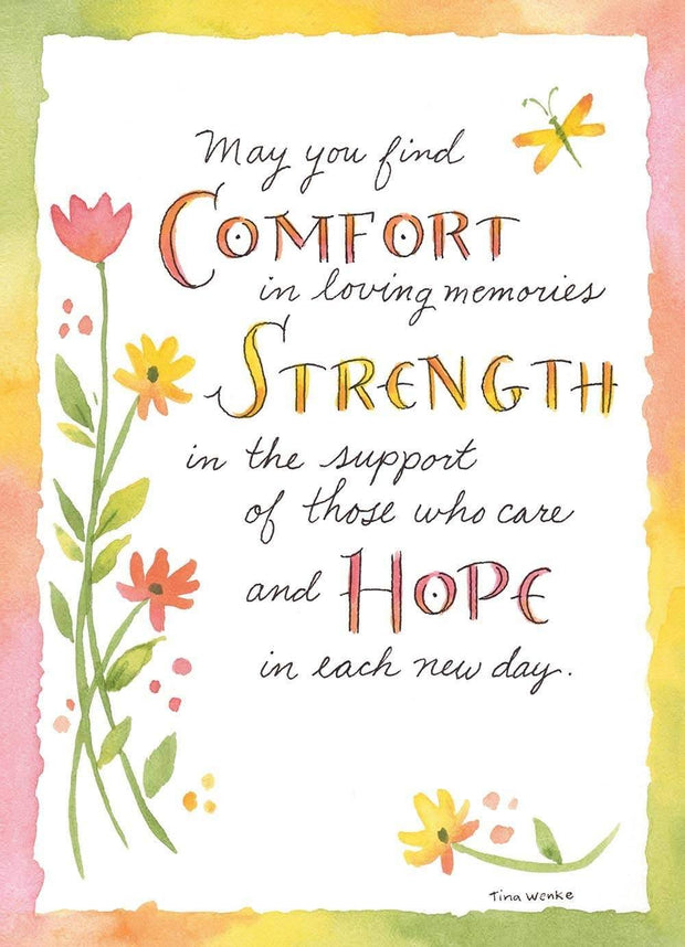 Comfort, Strength, Hope Sympathy Card | Fruit of the Vine Boutique