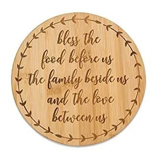 Bless the Food Bamboo Trivet