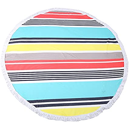 Round 'Splashy Stripes' Beach Towel