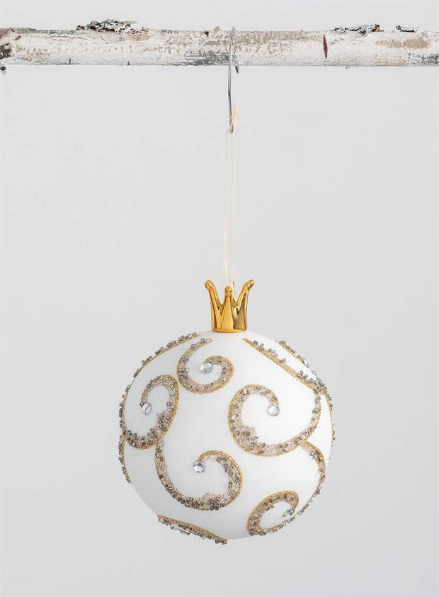 Scroll/Finial Crown Ornament - Fruit of the Vine