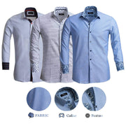 Reversible French Cuff Button Down Dress Shirt