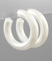 Pearlized Tube Hoops