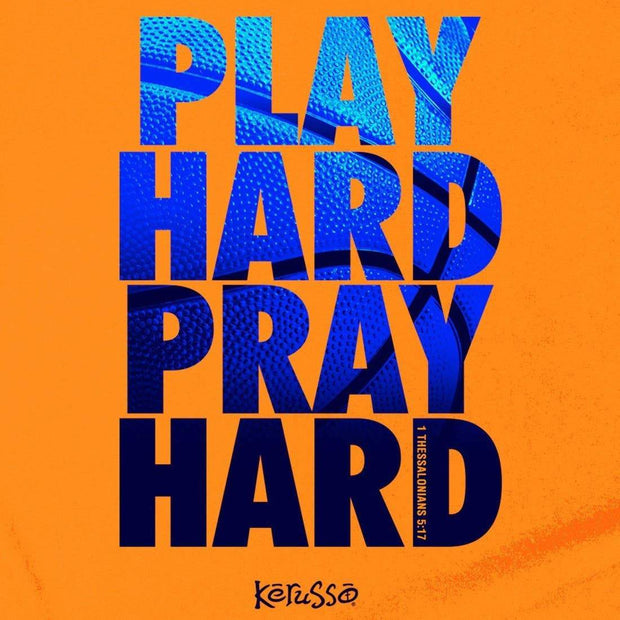 Play Hard Pray Hard Kids Tee - Fruit of the Vine