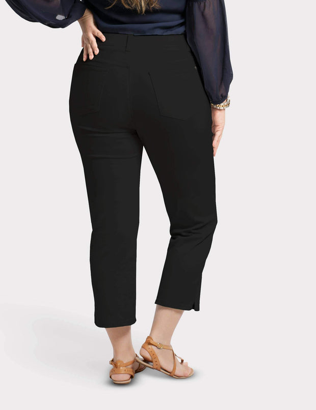 Women's Stretch Slim Fit Pants in Black (Curvy) | Fruit of the Vine Boutique