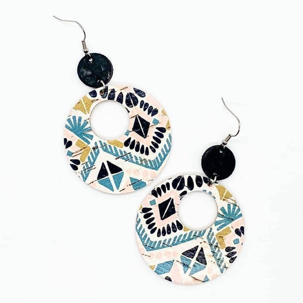 Black and Spring Aztec Double Corkies | Fruit of the Vine Boutique