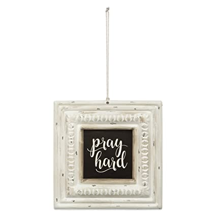 Pray Hard Pressed Tin Sign - Fruit of the Vine