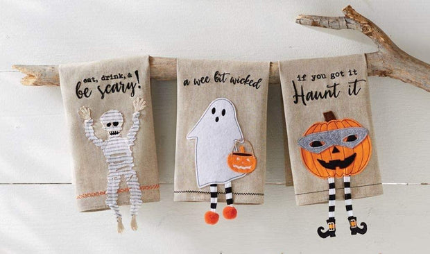 Halloween Dangle Leg Towels from Mud Pie