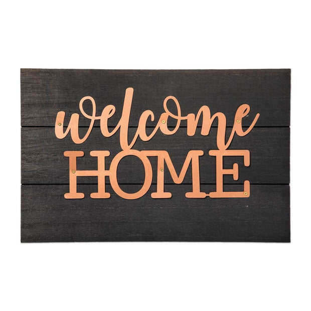Welcome Home Copper Pallet Sign - Fruit of the Vine