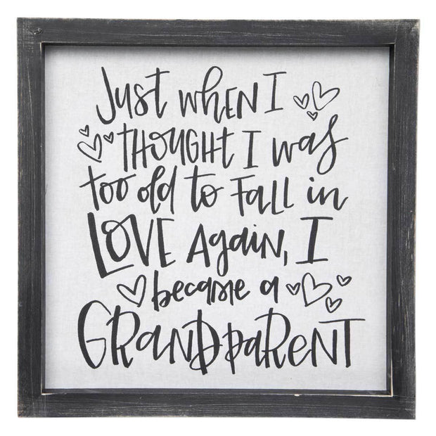 Became a Grandparent Wall Sign | Fruit of the Vine Boutique