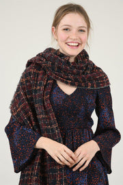 Maxi Plaid Scarf Wrap | Molly Bracken | Fruit of the Vine Boutique