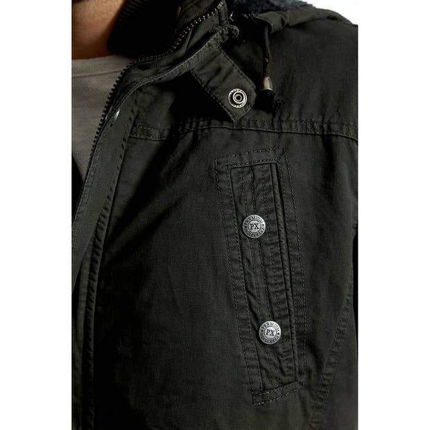 Zach Long Cotton Jacket in Dark Charcoal - Fruit of the Vine