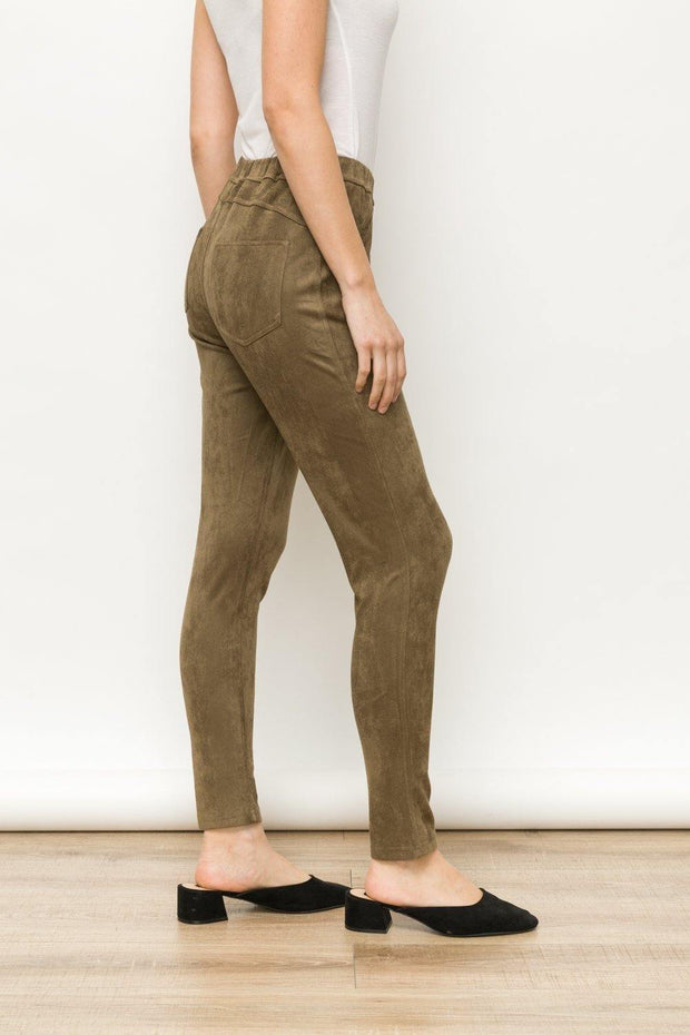 Suede Jeggings | Fruit of the Vine Boutique