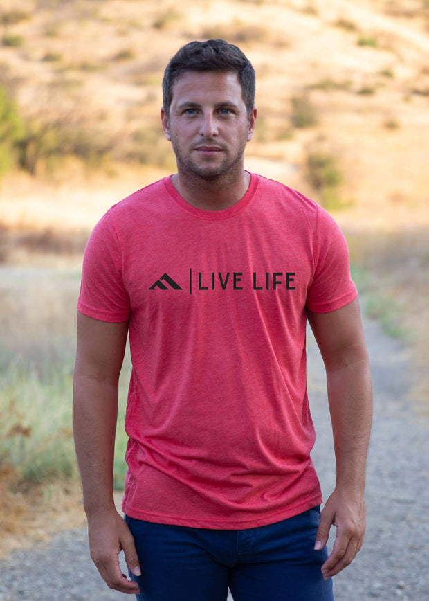 Corp Life Heather Red | Live Life Clothing Co