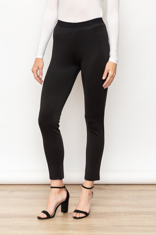Mystree Faux Back Pocket Leggings - Fruit of the Vine