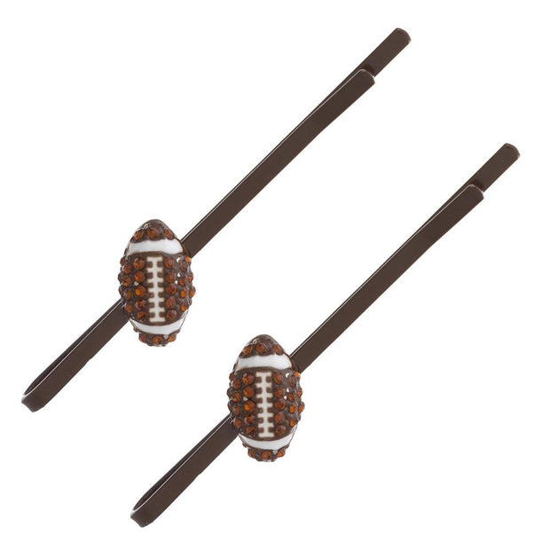 Rhinestone Football Hair Pins - Fruit of the Vine