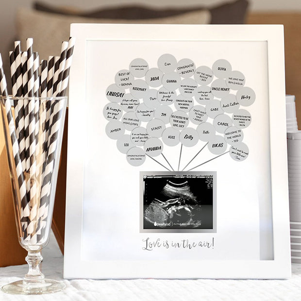 Baby Shower Guest Sonogram Frame - Fruit of the Vine