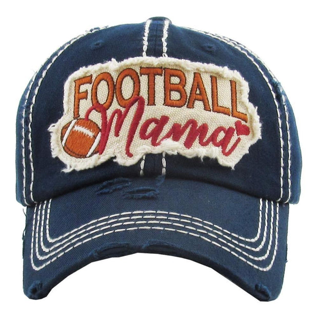 Football Mama Hat in Navy