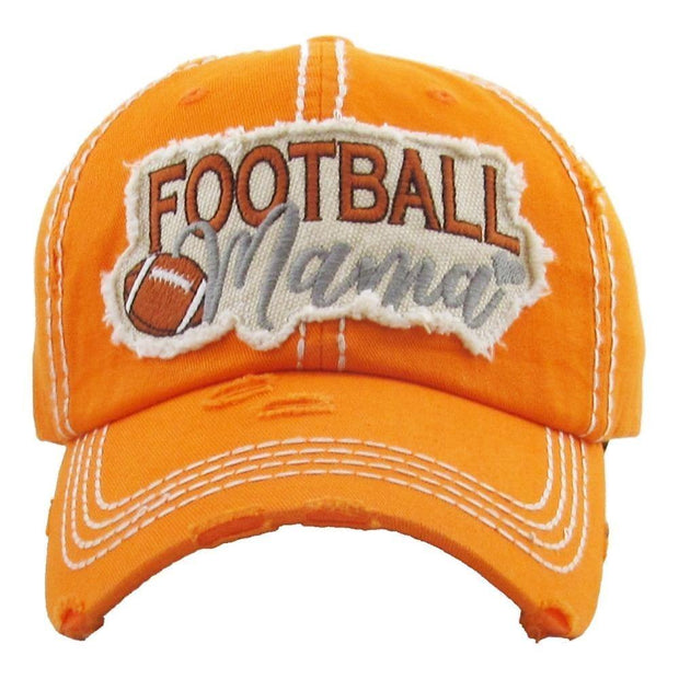 Football Mama Hat in Orange | Fruit of the Vine Boutique