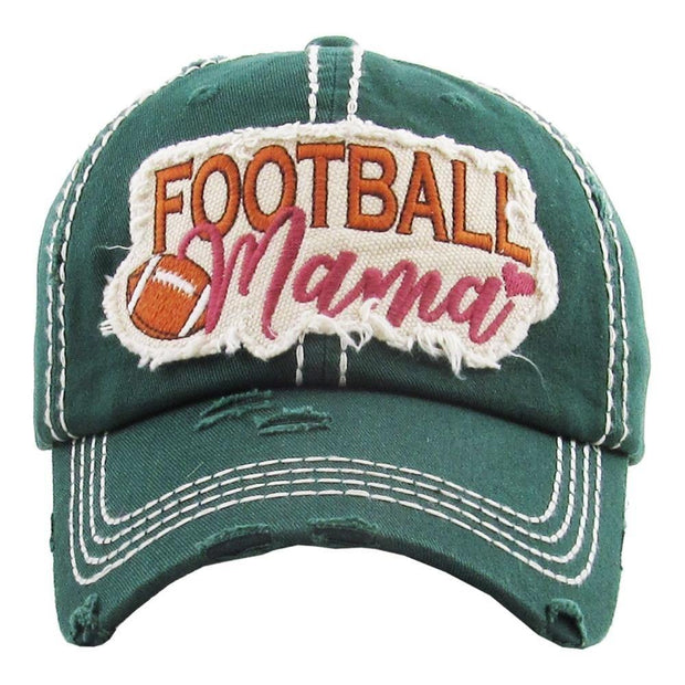 Football Mama Hat in Green