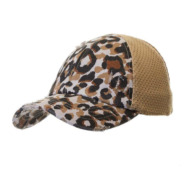 Leopard Ponytail Hat - Fruit of the Vine