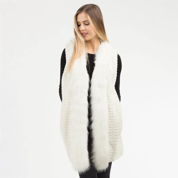 Faux Fur Vest | Fruit of the Vine Boutique