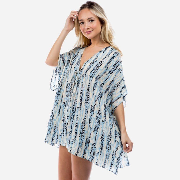 Abstract Patterned Top in Blue
