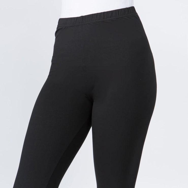 "Black Leggings with 1"" Waist Band"
