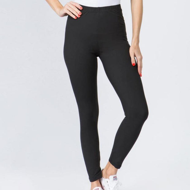 Buttery Soft Black Leggings (One Size)