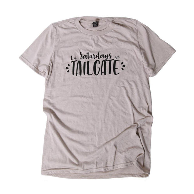 On Saturdays We Tailgate Graphic Tee | Fruit of the Vine Boutique