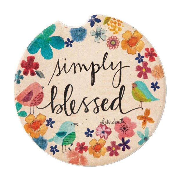 Simply Blessed Car Coaster - Fruit of the Vine