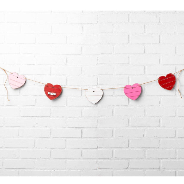 Hearts Banner Garland | Fruit of the Vine Boutique
