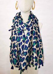 Teal Animal Print Scarf