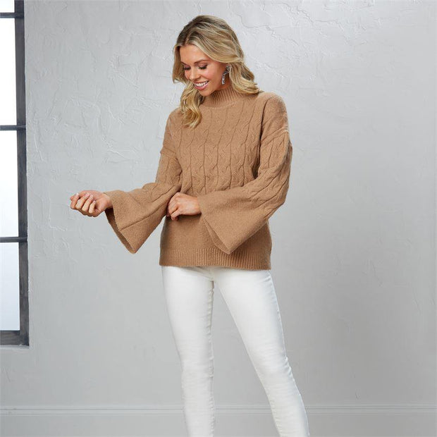 Eve Cable Knit Sweater | Mud Pie