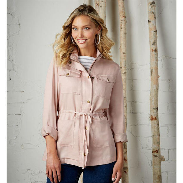 Porter Utility Jacket in Blush | Mud Pie | Fruit of the Vine Boutique