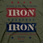 Iron Sharpens Iron Proverbs 27:17 T-shirt - Fruit of the Vine