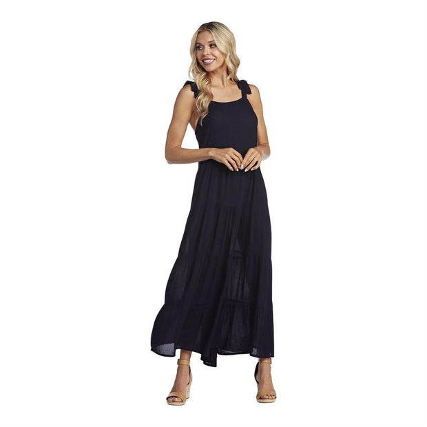 Mimi Tiered Maxi Dress in Navy | Mud Pie