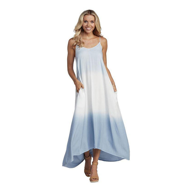Malone Tie Dye Maxi Dress in Blue | Mud Pie