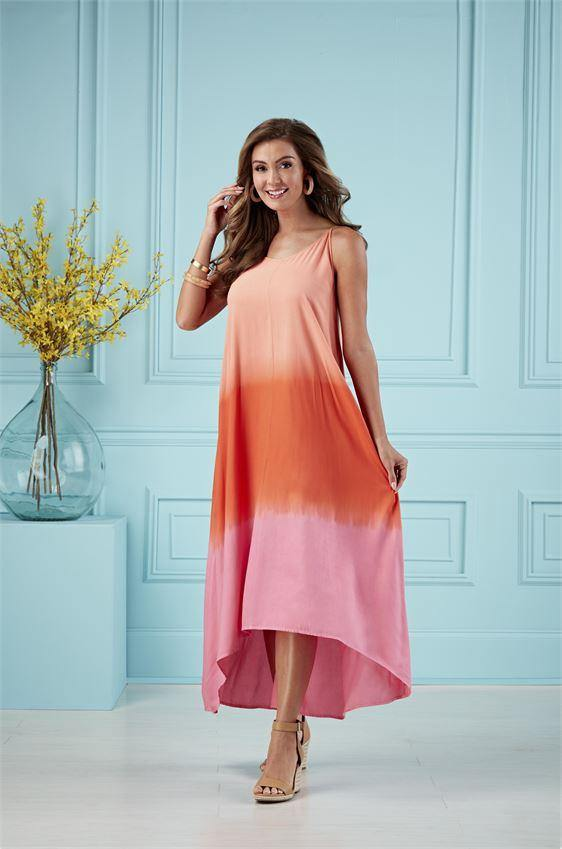 Malone Tie Dye Maxi Dress in Pink | Mud Pie