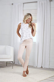 Harlyn Fringe Jeans in Blush | Mud Pie