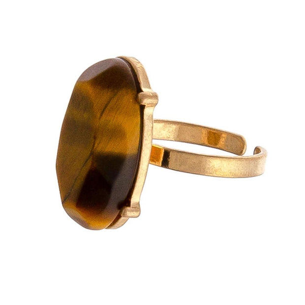 Tiger's Eye Ring - Fruit of the Vine